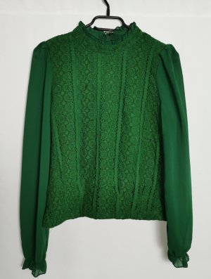 Lace Blouse green polyester
