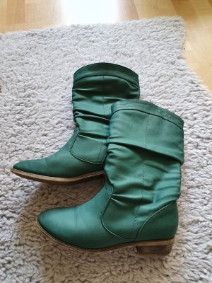 Jumex Slouch Boots forest green