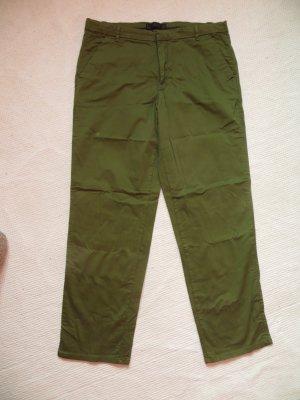 Zara Trafaluc Jersey Pants forest green cotton