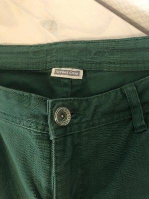 Street One Jeans a gamba dritta verde bosco