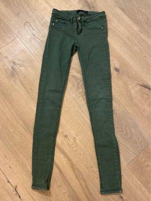 Tally Weijl Stretch Trousers khaki-green grey