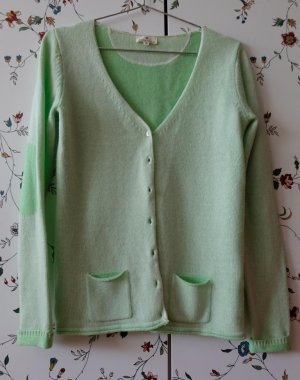 Basefield Knitted Cardigan lime-green wool