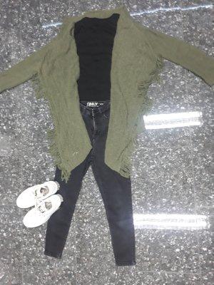 Cardigan tricotés gris vert