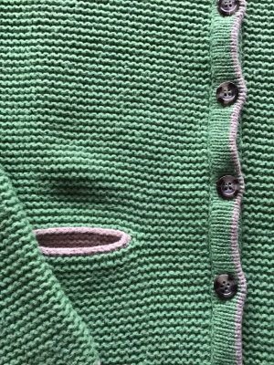 Marie Lund Copenhagen Kurtka z grubej dzianiny zielony-jasnobeżowy