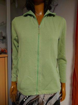 grüne Swearshirt Jacke Größe 36/38