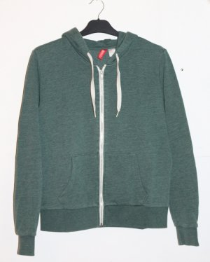 Grüne Sweatshirtjacke