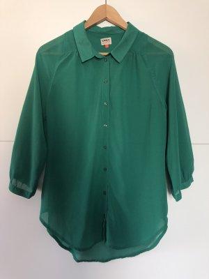 Grüne, transparente Bluse