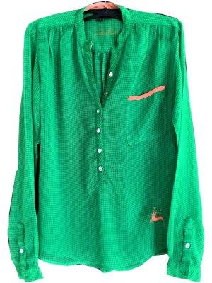 Grüne transparente Bluse