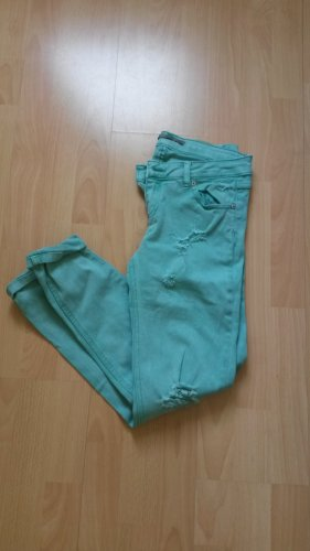 Grüne used look jeans von Pull& Bear