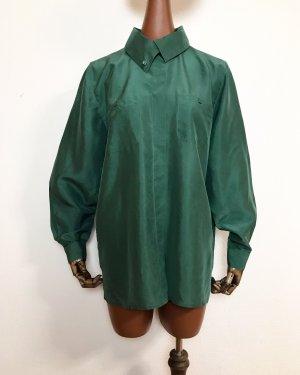 Best Connections Silk Blouse forest green