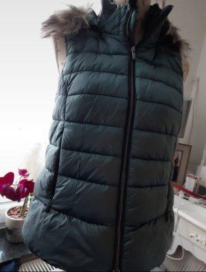 Bonita Kamizelka ze sztucznym futrem khaki