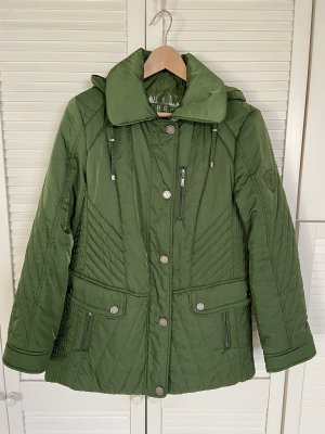 BARBARA LEBEK Hooded Coat dark green