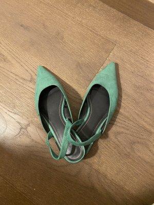 Grüne Zara Sling back Schuhe