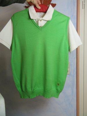 März Długi sweter bez rękawów jasnozielony-zielony Wełna
