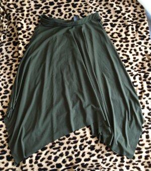 H&M Asymmetrische rok khaki-groen-grijs