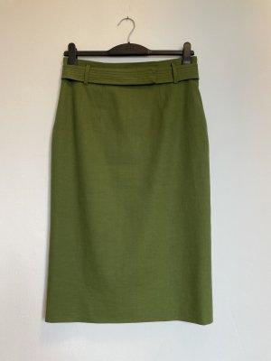 René Lezard Pencil Skirt green linen