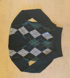 grüner kurzer Wollpulover