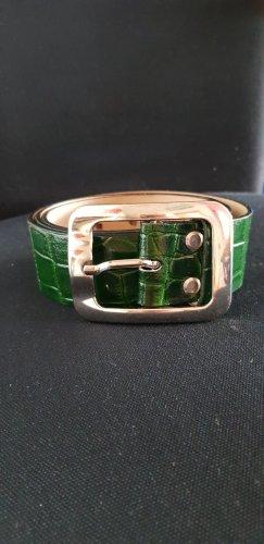 Jones Cinturón de cuero verde bosque