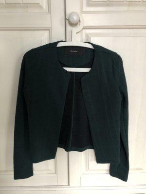 Vera Moda Blazer de tela de sudadera petróleo-verde bosque tejido mezclado