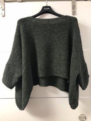 Made in Italy Maglione oversize verde scuro