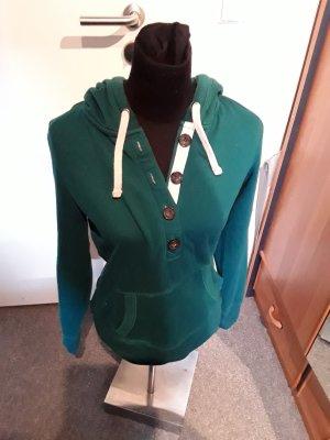 grüner Pullover mit Kapuze - We love jersey - Clockhouse - Größe M