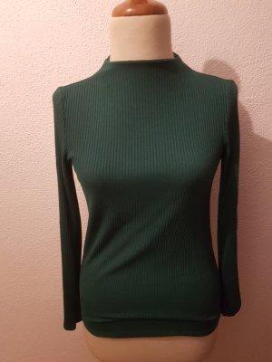Mango Basics Long Sweater green