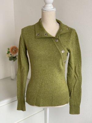 Grüner Pullover von Mexx aus Lammwolle