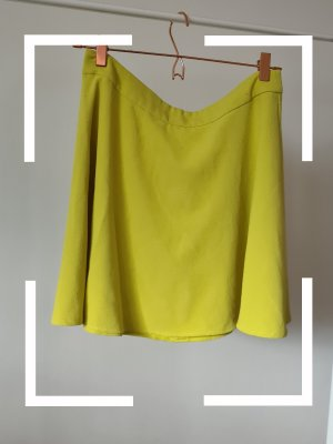 Asos Skaterska spódnica żółty neonowy-limonkowy żółty