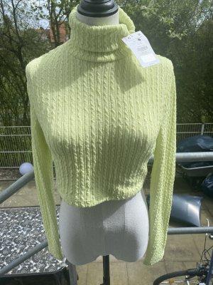 Grüner Rollkragen Pullover Gr L