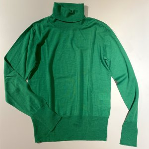 ae elegance Turtleneck Sweater green wool