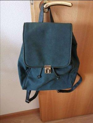 grüner Rucksack von Six, mit goldener Schnalle