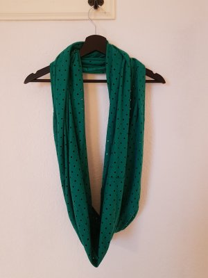 Tube Scarf forest green cotton