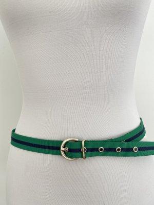 Tommy Hilfiger Pasek z materiału zielony-ciemnoniebieski