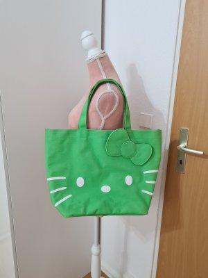 grüner Shopper mit Hello Kitty Aufdruck