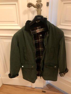 Urban Outfitters Giacca cerata verde bosco-grigio-verde