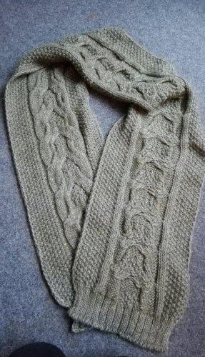 Sisley Bufanda de lana gris verdoso