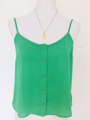 Grünes Blusenshirt Topshop