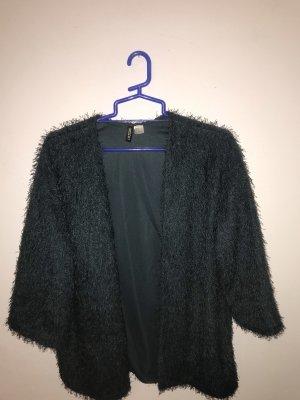 H&M Fake Fur Jacket dark green