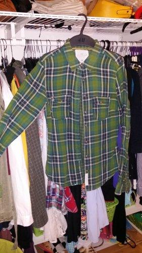 grünes karohemd gr 34