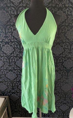 H&M Halter Dress grass green-green cotton