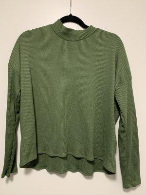 H&M Divided Ribbed Shirt khaki-olive green