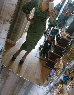 grünes Party - Kleid, Samt