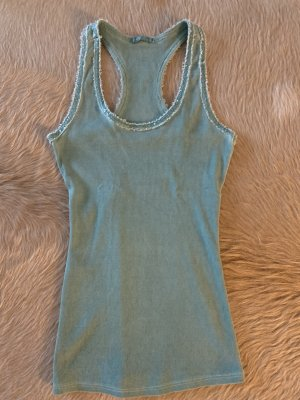 Made in Italy Muscle Shirt sage green cotton