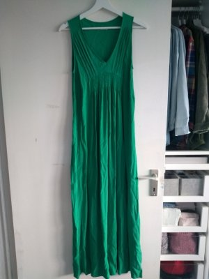 Acoté Robe longue vert-vert forêt viscose