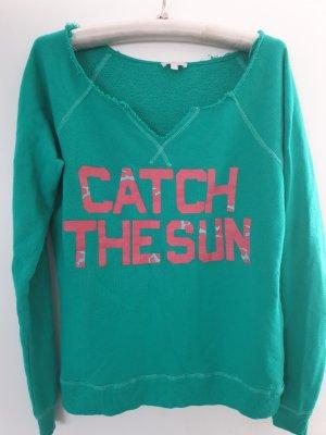 Grünes Sweatshirt mit Aufschrift Gr. S