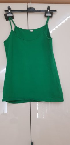 s.Oliver Top z cienkimi ramiączkami zielony