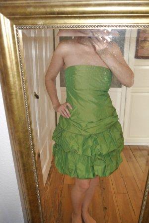 grünes trägerloses Cocktailkleid wie neu Größe 38