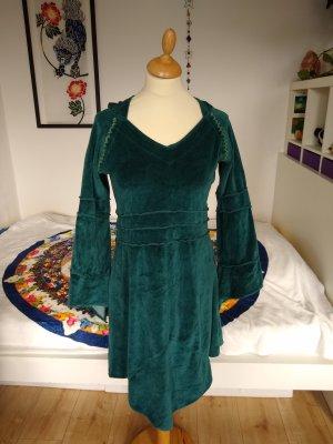 Grünes Tunika/Kleid, Samt