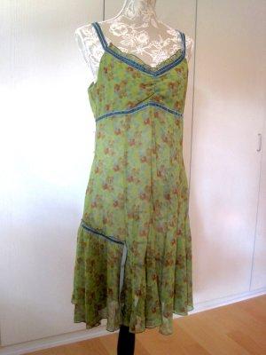 Grünes Vintage-Kleid in Gr. 42