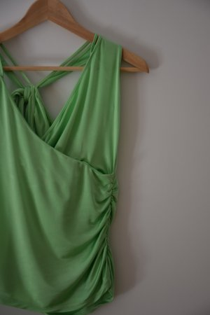 grünes Wickeltop - Versace Jeans Couture
